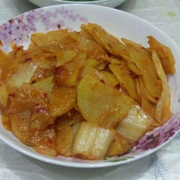 白菜炒土豆片