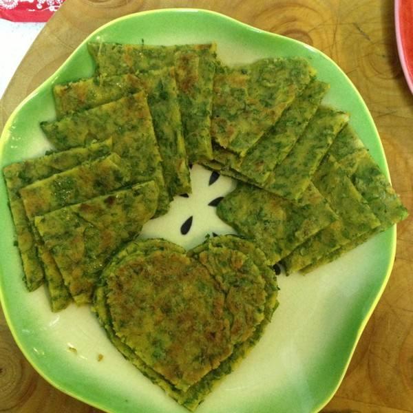 芹菜叶子饼