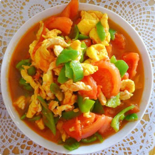西红柿青椒炒蛋