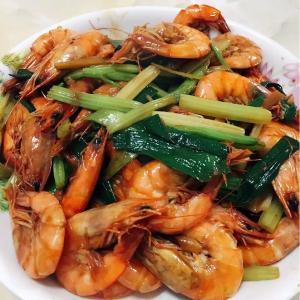 韭菜炒虾仔
