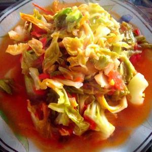 番茄圆白菜