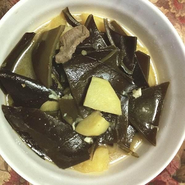 海带牛肉汤