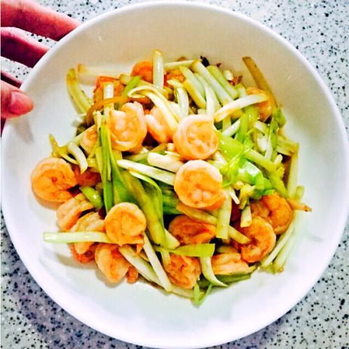 韭黄炒虾仁