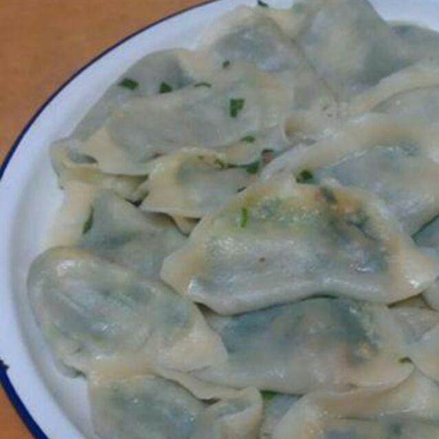 韭菜瘦肉饺子