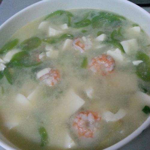 虾仁丝瓜汤