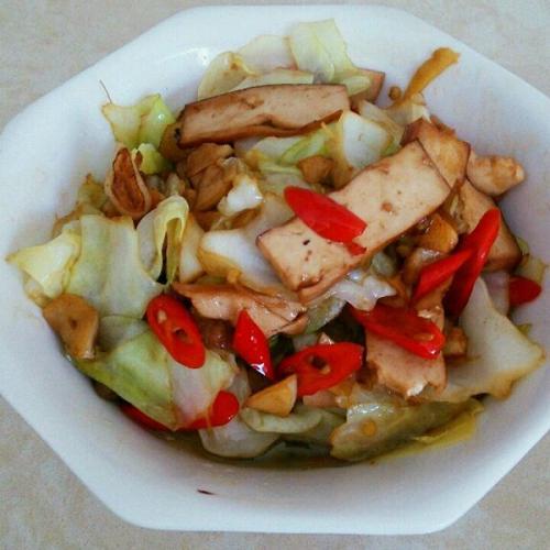 菜花炒豆干