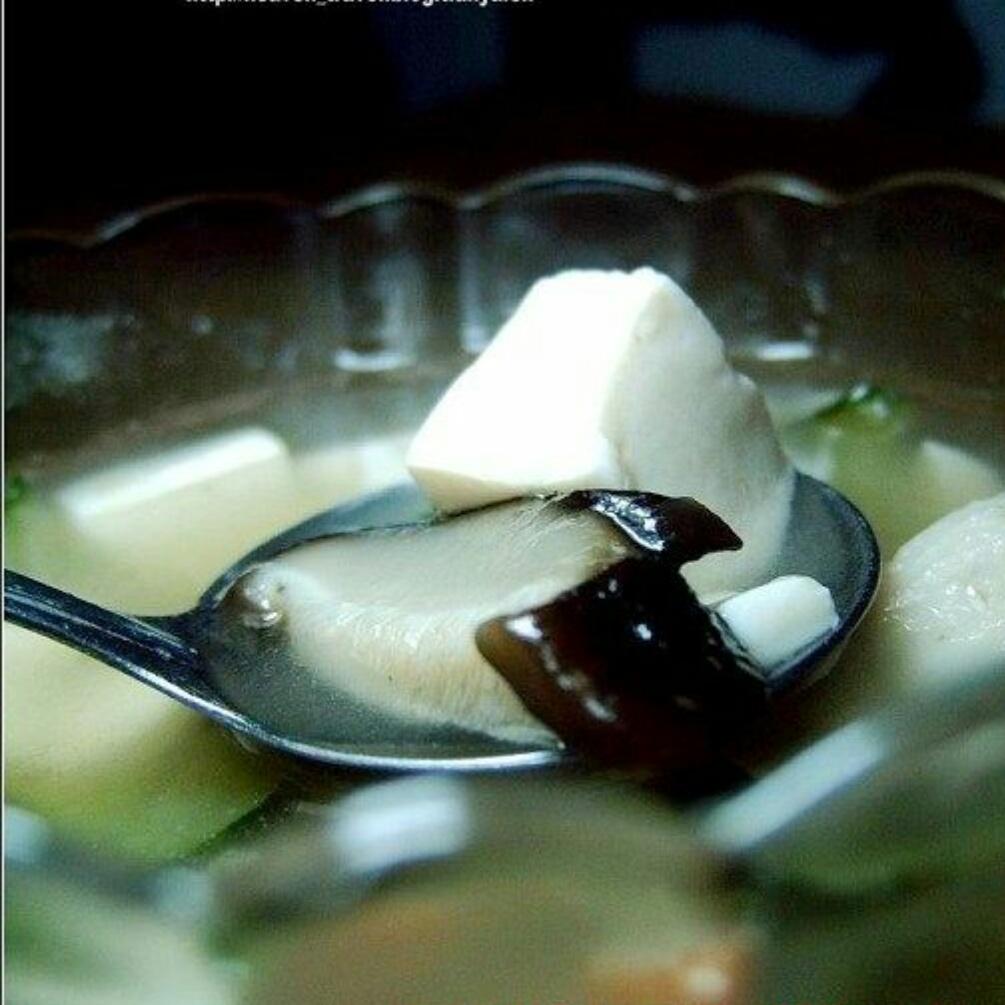 蟹柳香菇汤