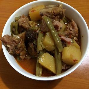 四季豆土豆炖排骨