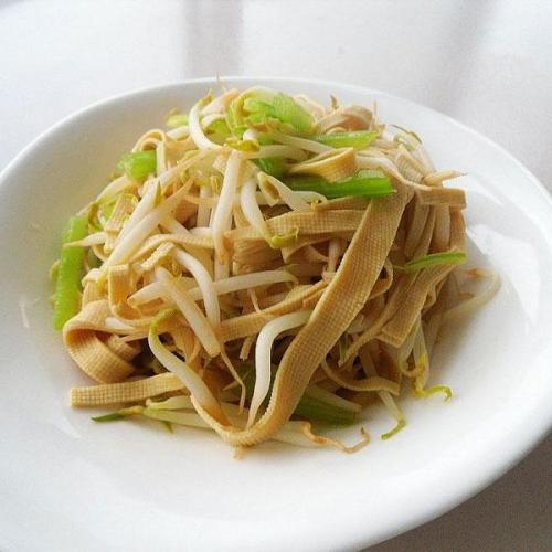 芹菜炒豆芽
