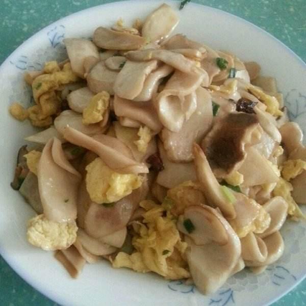 鸡蛋炒杏鲍菇