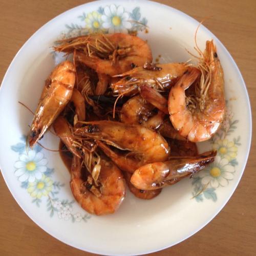 铁板黑椒大虾