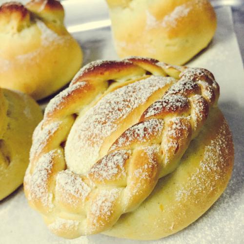 健康的香橙面包