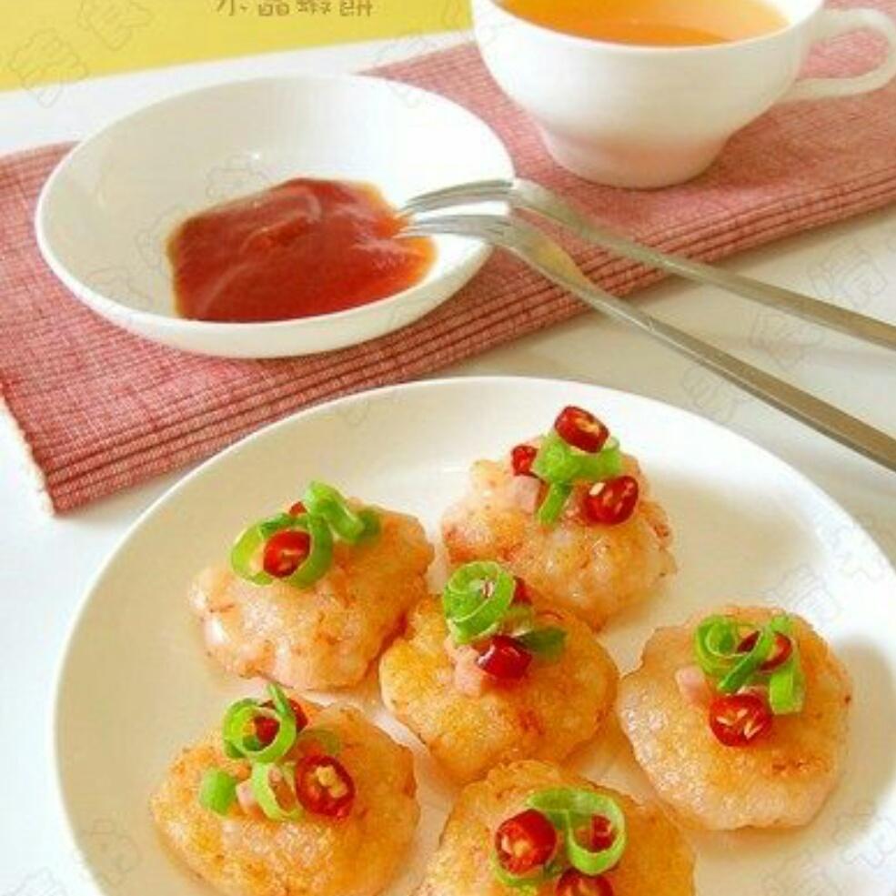 美味水晶虾饼