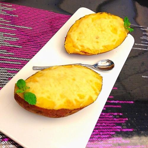奶酪焗红薯