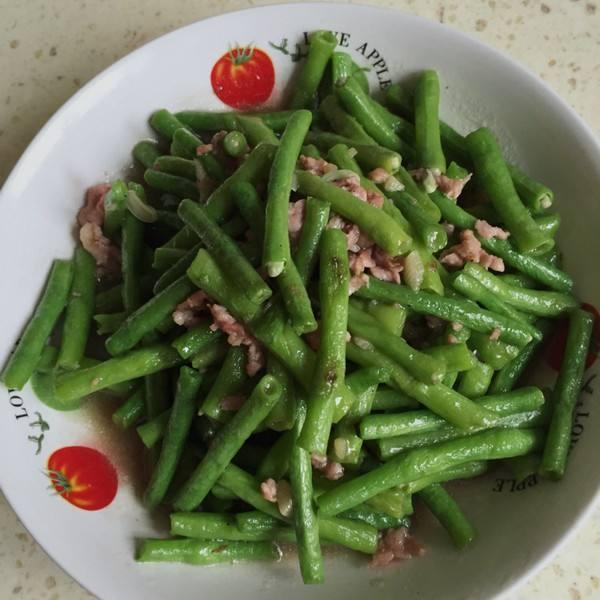 肉炒豇豆角