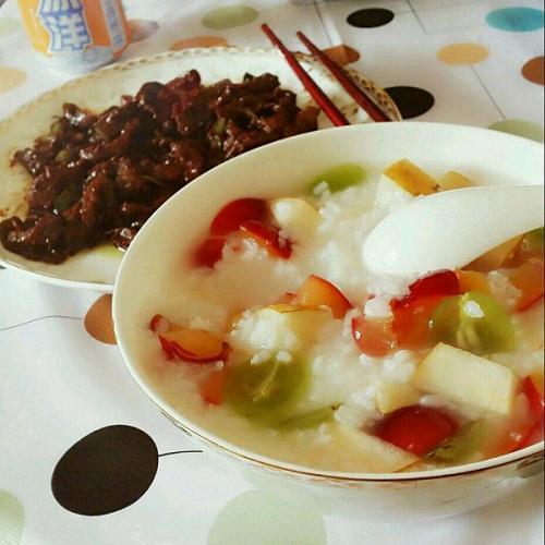 糙米水果冰粥