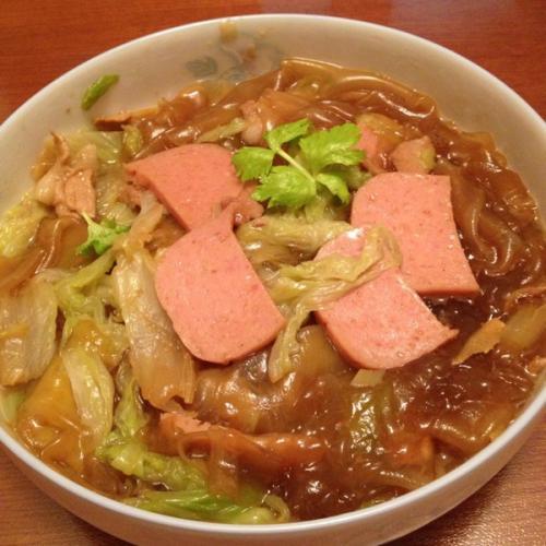 白菜炖猪肉条