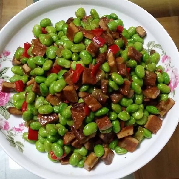辣椒炒毛豆