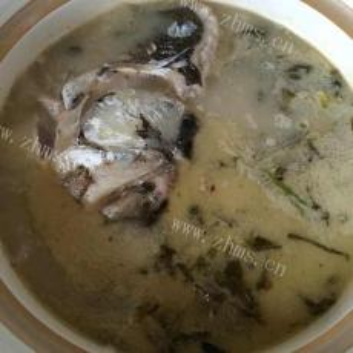 酸菜鱼头汤