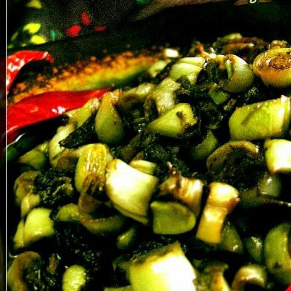 肉末橄榄菜炒豆角粒