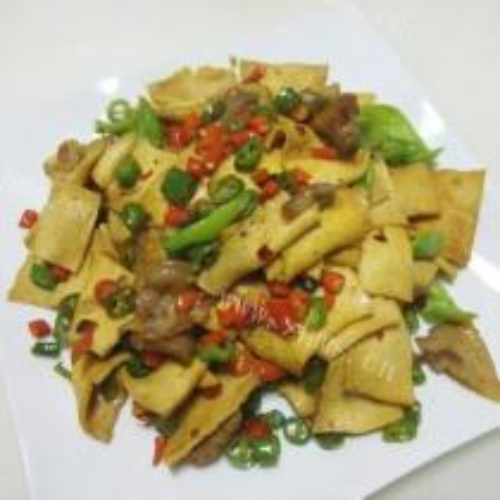 干豆腐炒尖椒