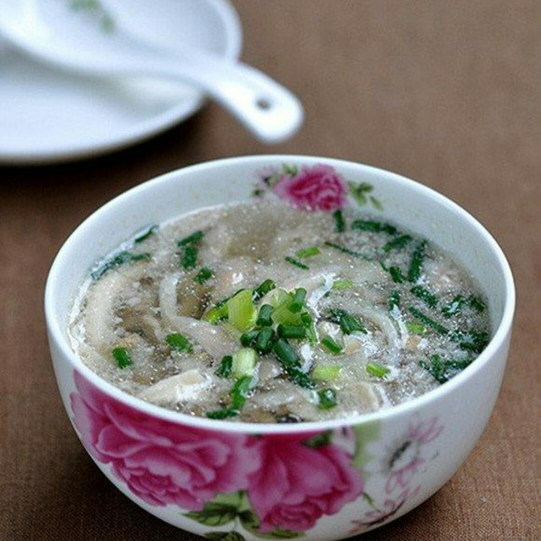 平菇肉末汤