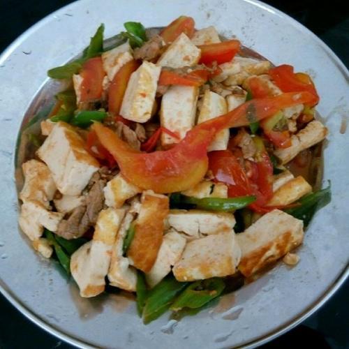 煎豆腐炒肉