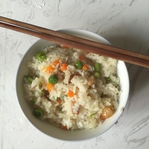 淡淡清香豌豆饭