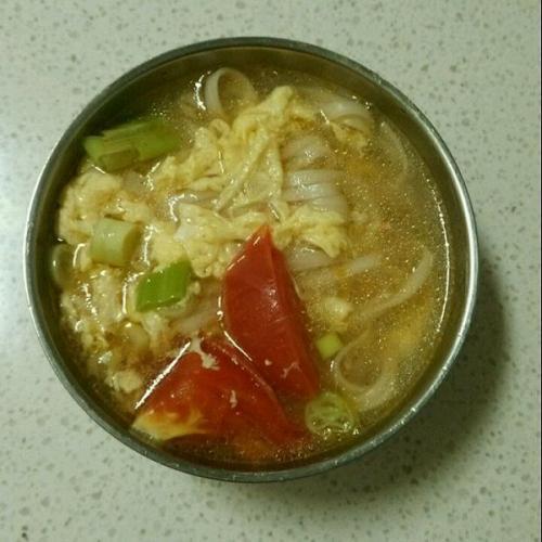 白菜挂面汤