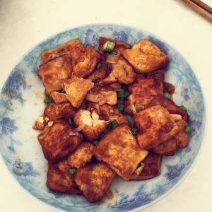 麻辣酱汁火靠豆腐