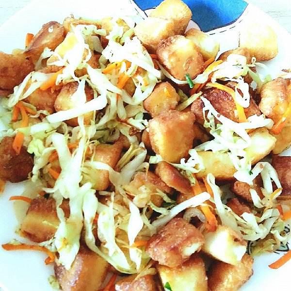白菜炒馒头
