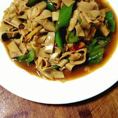 东北尖椒干豆腐