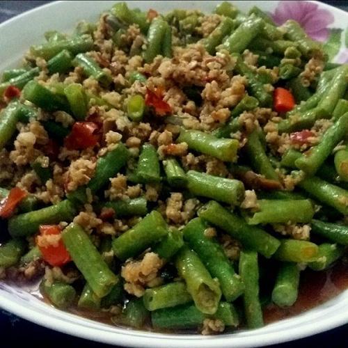 剁椒肉末四季豆