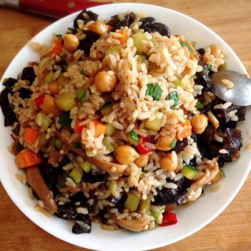 助消化的蘑菇炒饭