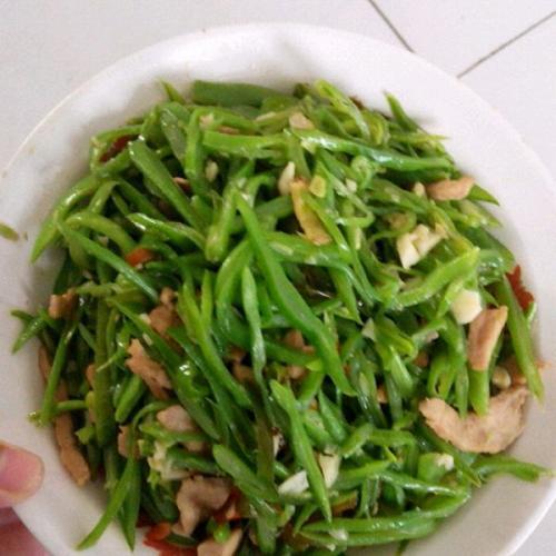 扁豆丝炒肉