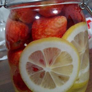 爱心草莓酒