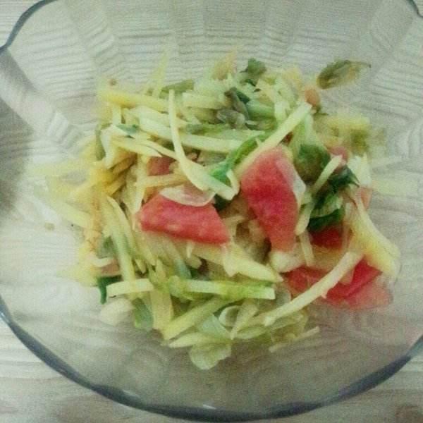 西红柿炒生菜