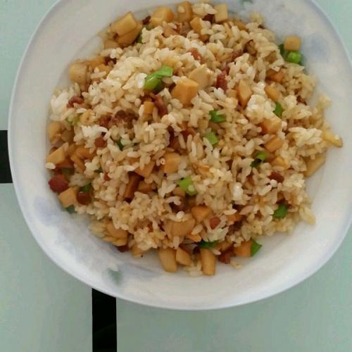 杏鲍菇蛋炒饭