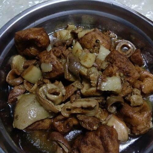 客家豆干煮猪肉