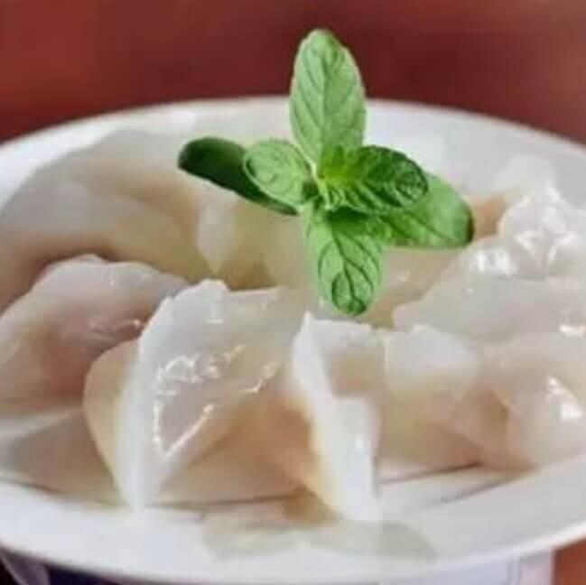 水晶萝卜猪肉饺