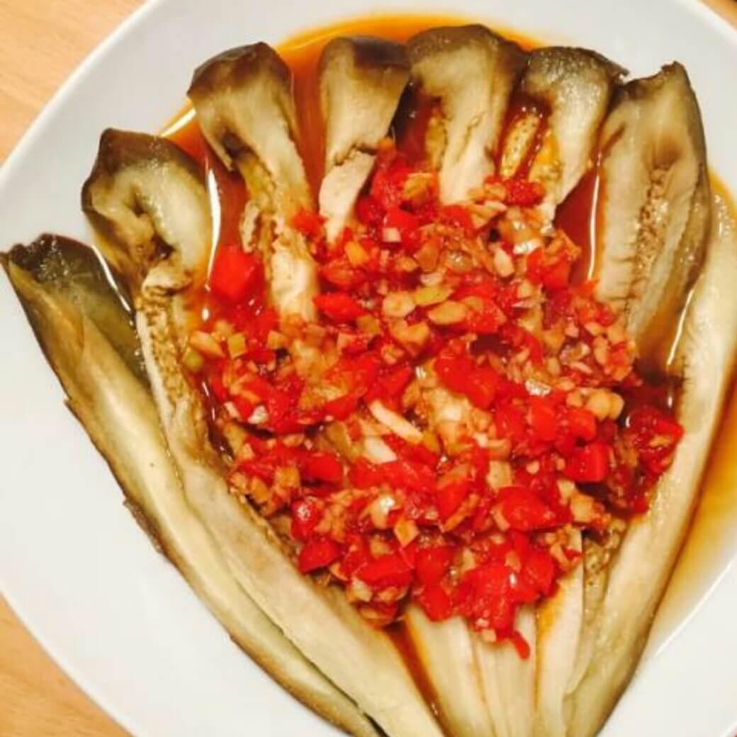美味剁蒜蒸茄子