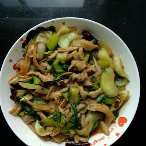 元蘑炒油菜