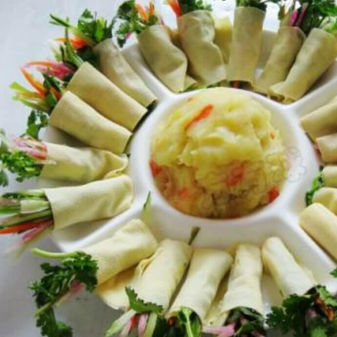 海鲜蔬菜卷