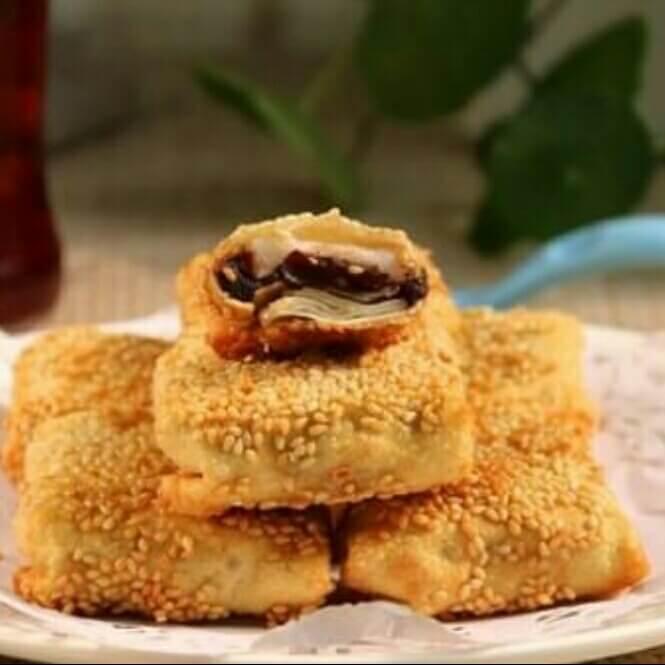 美味脆皮椰香红豆年糕