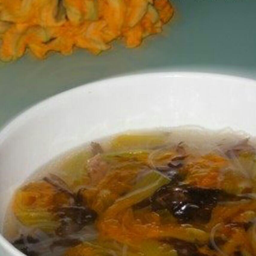 南瓜花紫菜汤