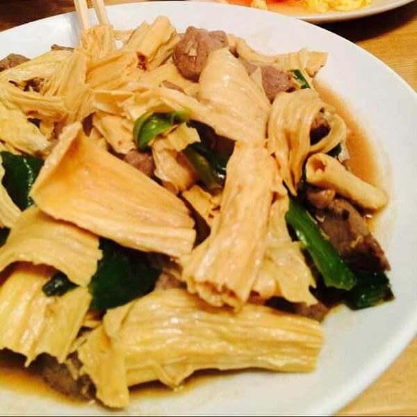 牛肉炒腐竹