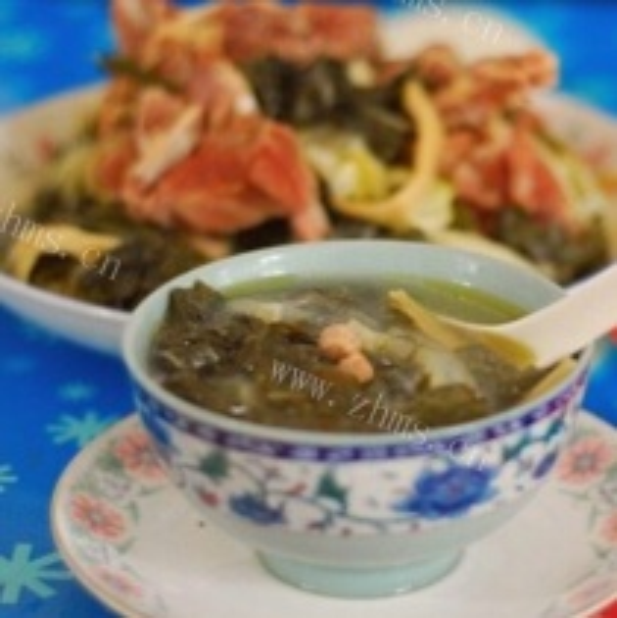 白菜菜干猪骨汤