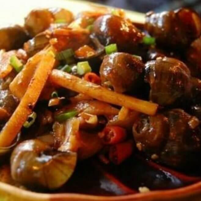 蒜蓉豆豉酱炒田螺肉