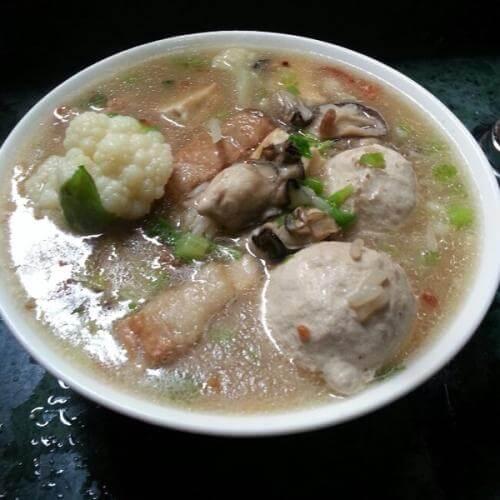 香花菜肉片汤