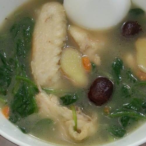 大排档菠菜牛丸汤